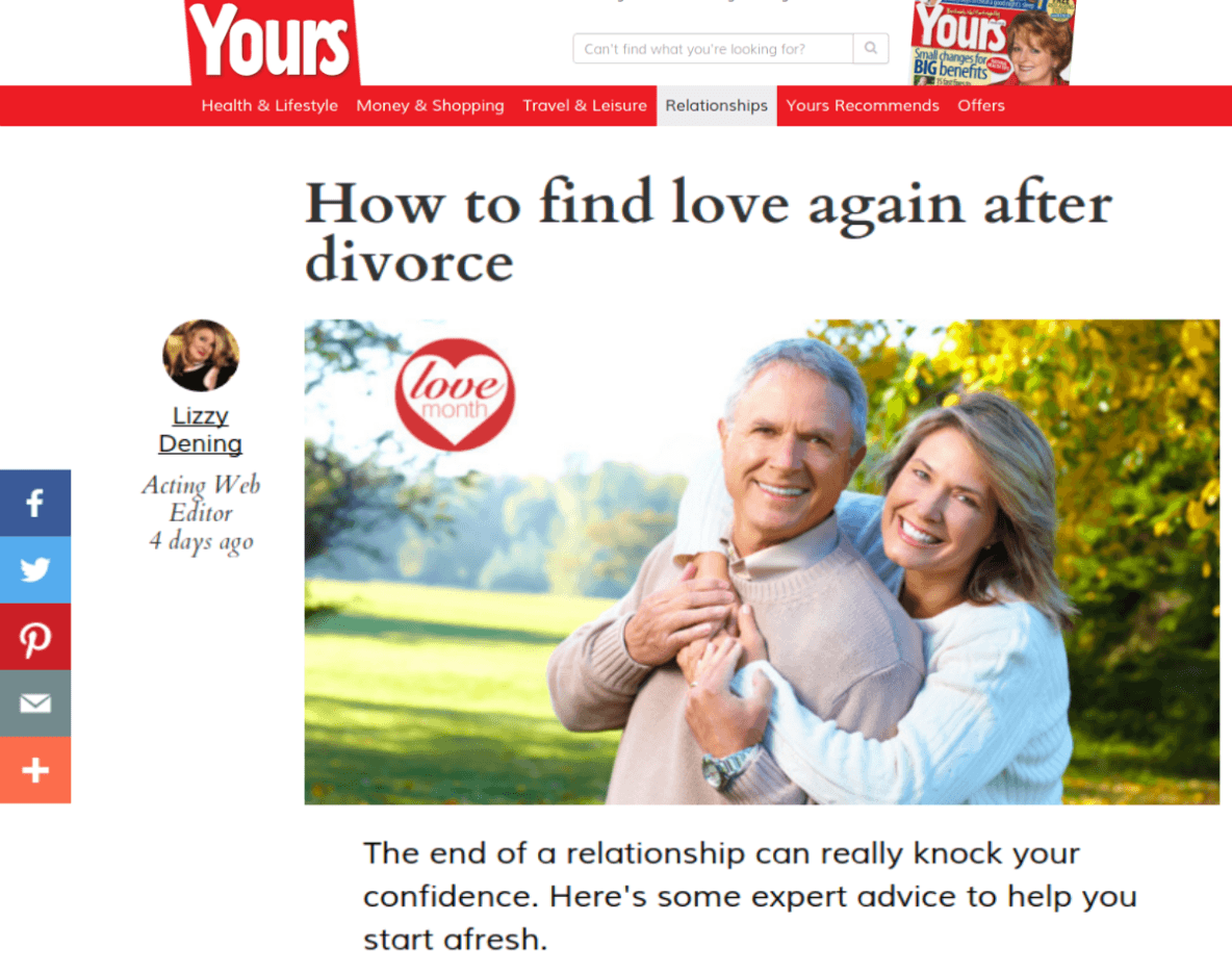 Life Coach Ané Auret appears in Yours magazine online