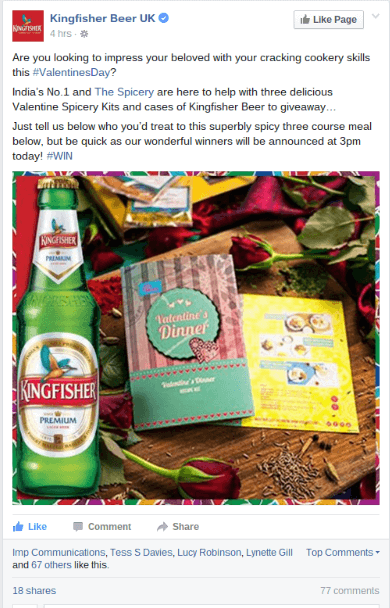 Brand partnership between The Spicery and Kingfisher Beer