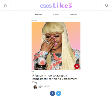 ASOS Likes post from 1 March 2016